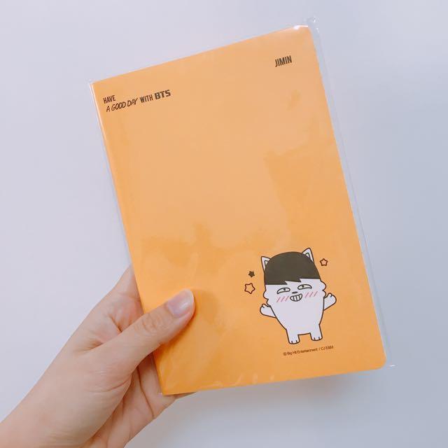 全新 BTS防彈少年團 JIMIN朴智旻限量版筆記本 #旺旺一路發