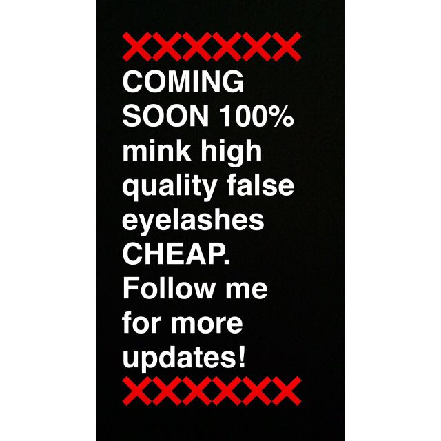 ❗️❗️❗️❗️ COMING SOON 100% MINK HIGH QUALITY FALSE EYELASHES. FOLLOW ME FOR MORE UPDATES! ❗️❗️❗️❗️