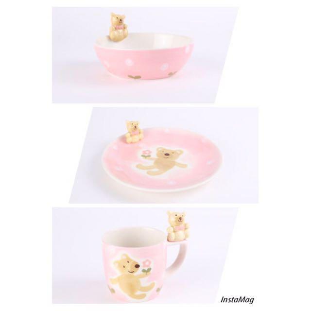 全新 HOLA甜心熊 陶瓷餐具三件組#新春八折