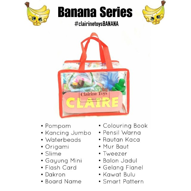 Activity Bag Clairine Toys BANANA