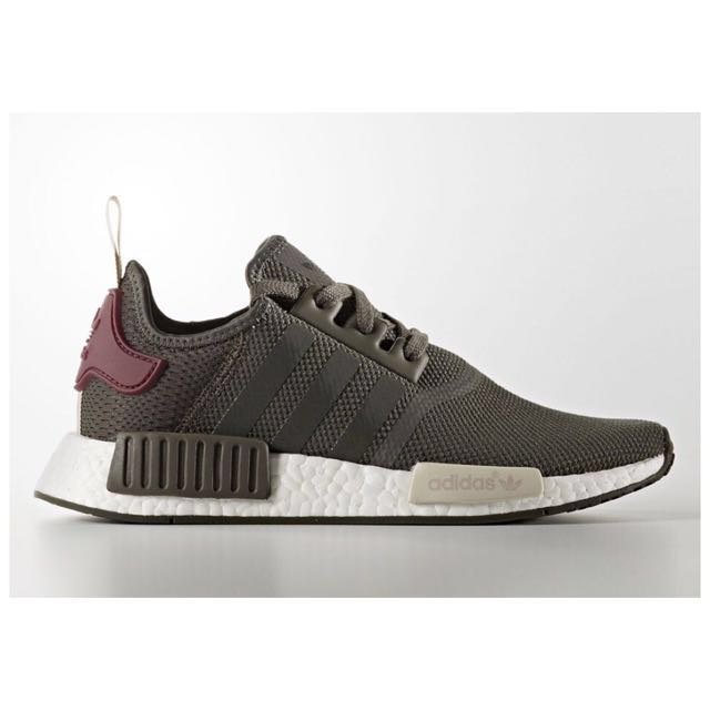 low priced 16444 3c54d Adidas NMDs Authentic Olive Maroon