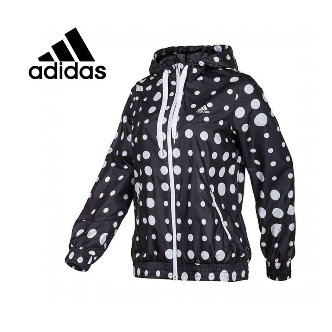 Authentic Adidas Polka Dot Windbreaker