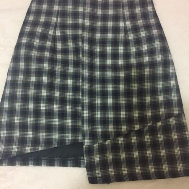 ajpeace格紋格子短裙