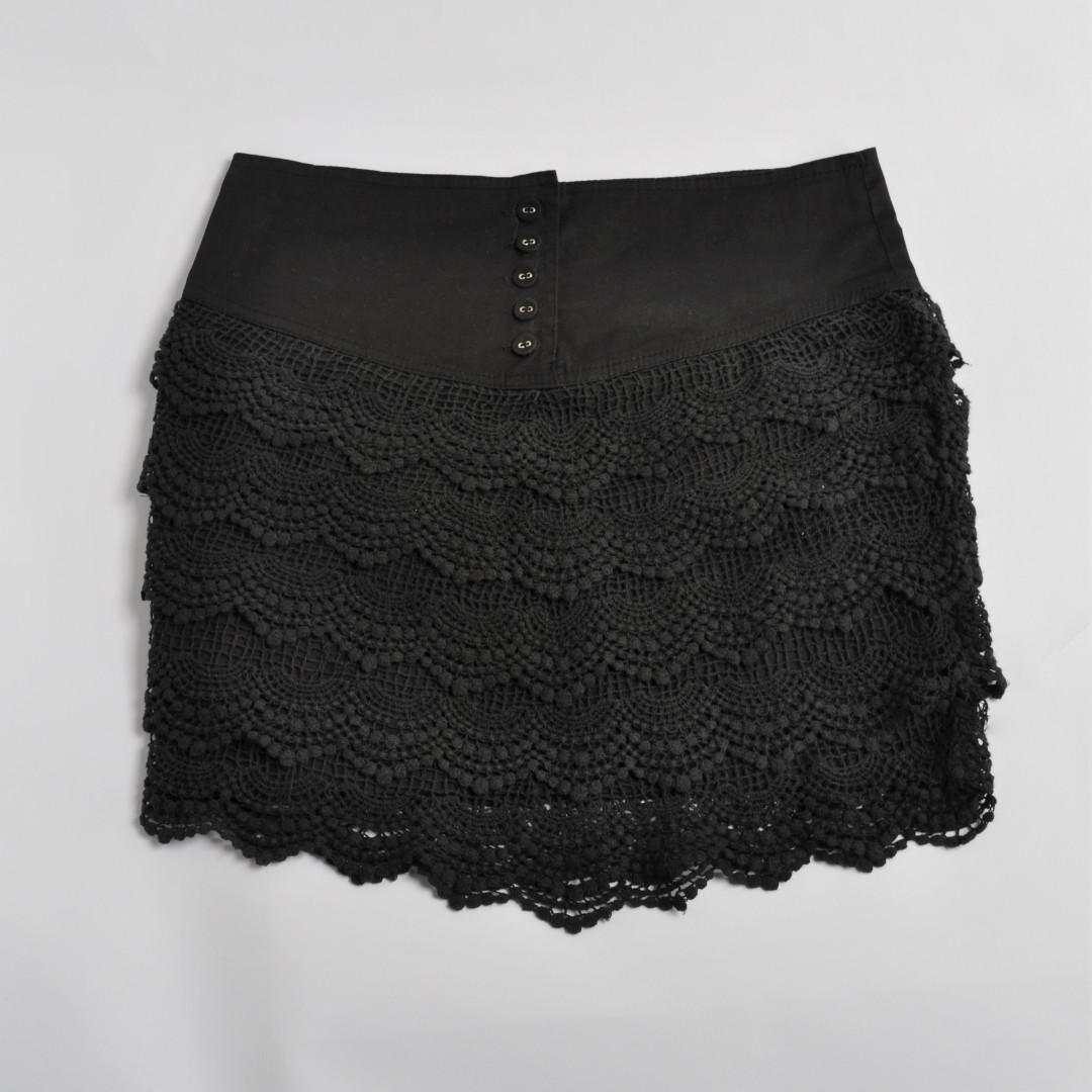 ANGEL BIBA | Lace Skirt
