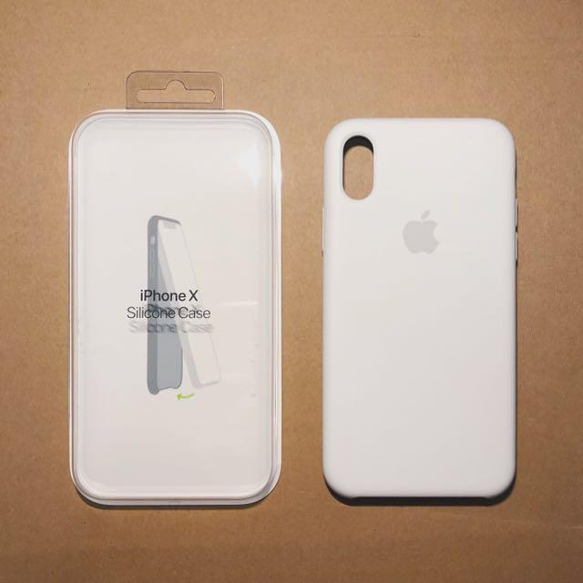competitive price 2b29e aba30 Apple iPhoneX silicone case White