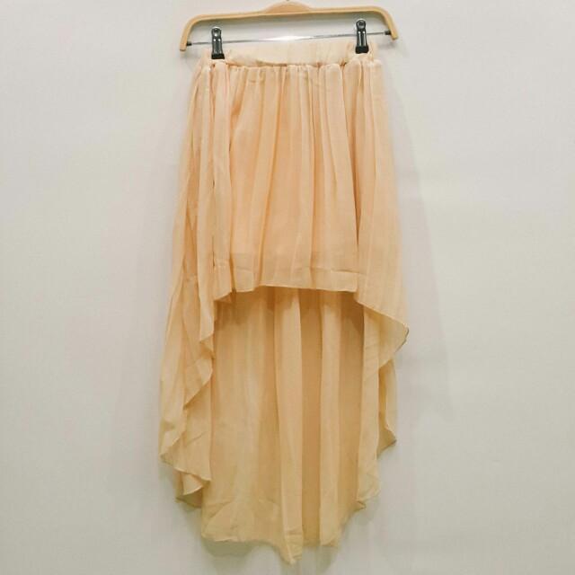 Asymmetric chiffon skirt