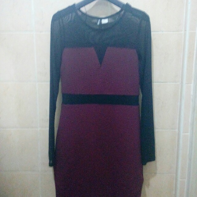 Authentic Divided by H&M Long-Sleeve Mesh Party Dress