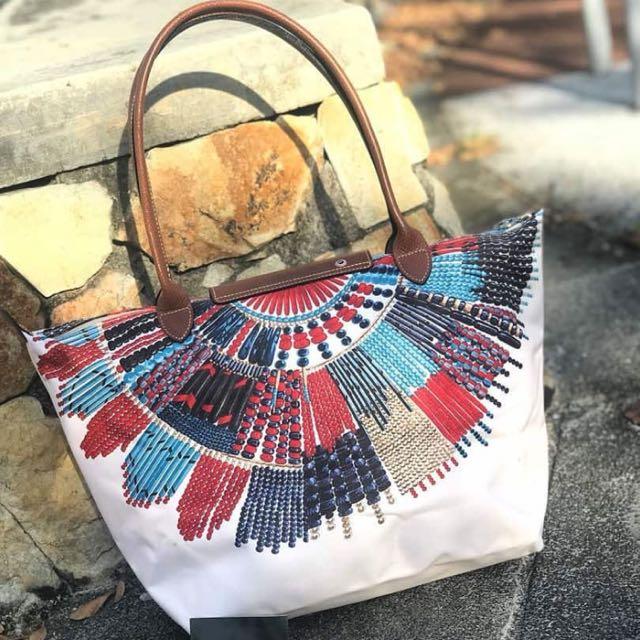 2d415e72b515 💯Authentic Longchamp Pliage Collier Massai (New)