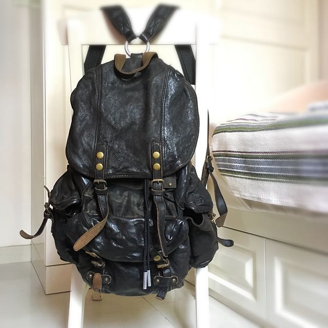 Bauhaus TOUGH Jeansmith Leather Military Backpack (Black), Men s Fashion,  Men s Bags   Wallets on Carousell d19674713b