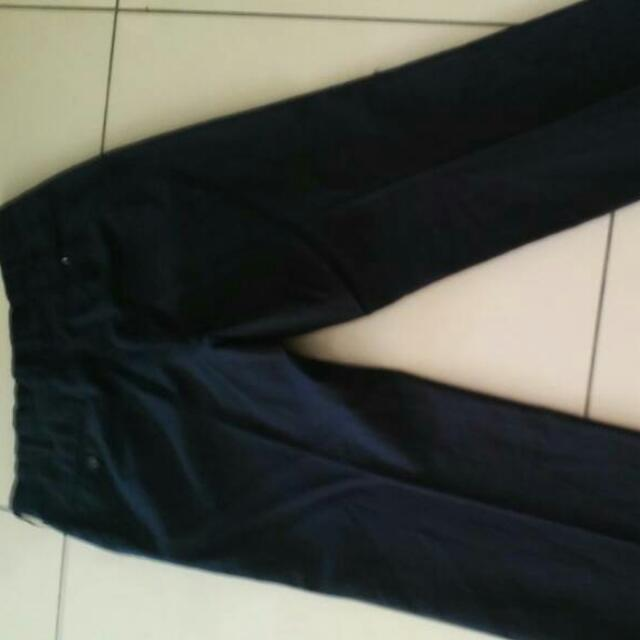 Black Stripe Slack Pants