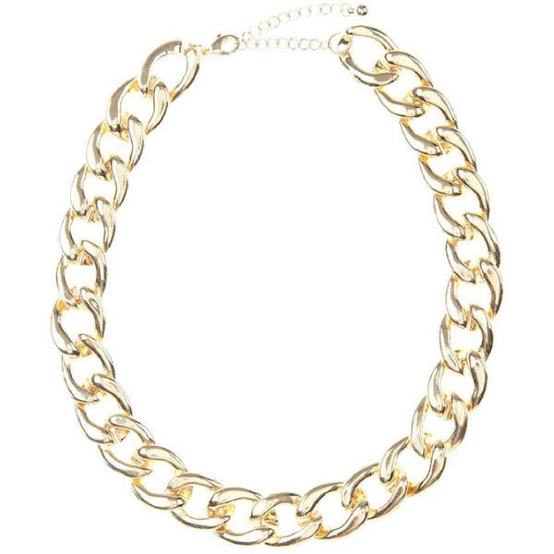 ~BNWT~ 10 Bells Thick Chain Classic Necklace [#45]