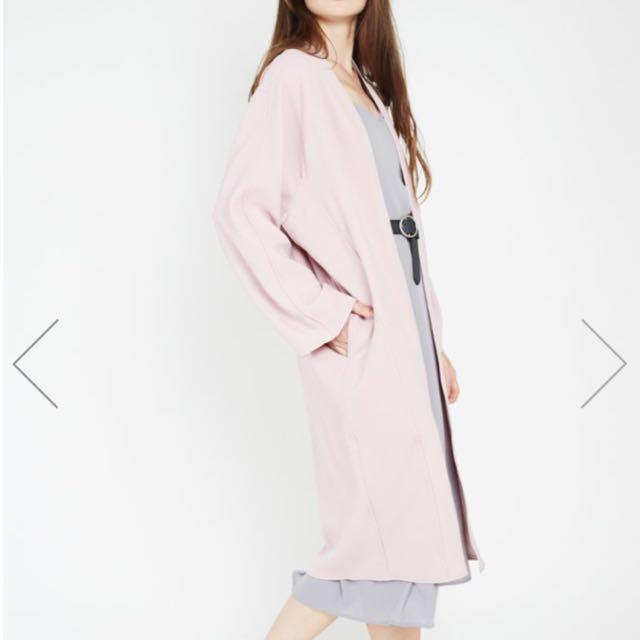 BNWT Styledasher COLETTE Longline Jacket Coat in Sherbet Pink