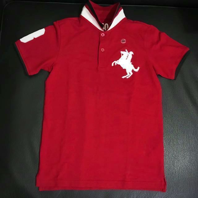 Brand New Authentic Giordano Junior Red with White Polo Shirt (REPRICED)