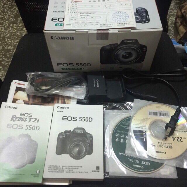 Canon 550d+sigma 35-80mm 盒裝配件