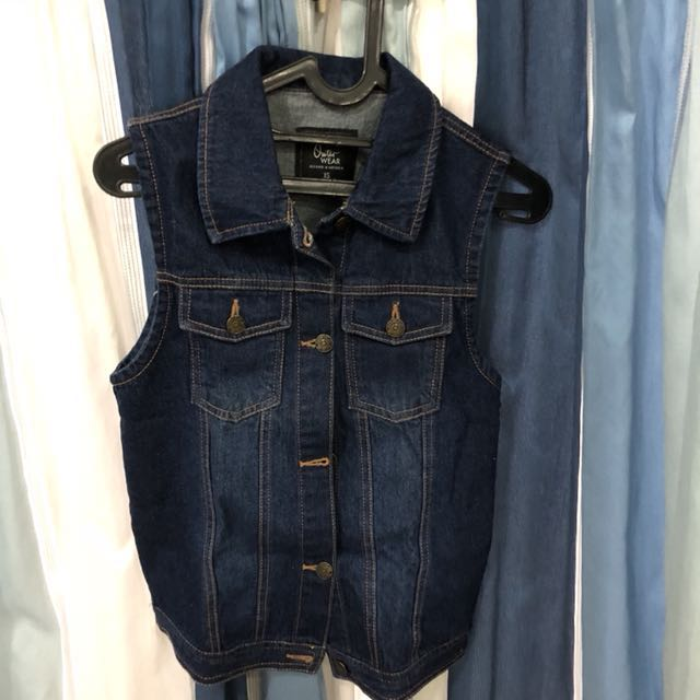 Cotton on jeans vest denim jacket