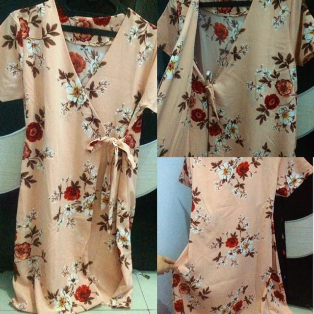 Cream Flowery Dress