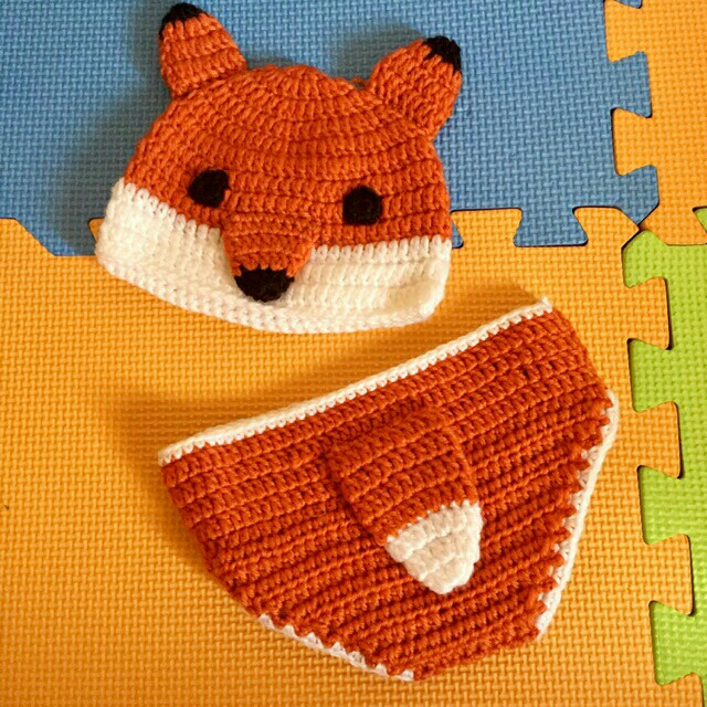 Crochet fox costume