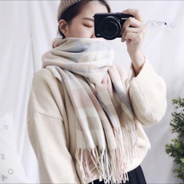 Cunz 可愛配色柔軟圍巾