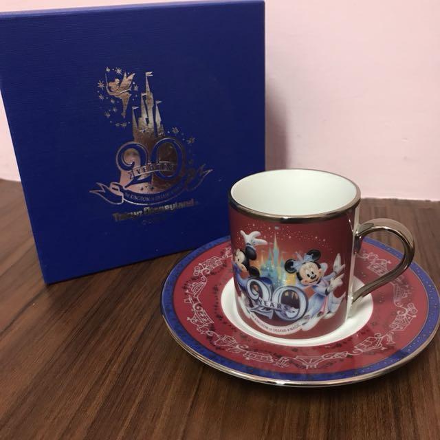 日本🇯🇵迪士尼Disneyland 20週年紀念咖啡☕️杯禮盒🎁超限量全新未用過 珍藏 米奇米妮