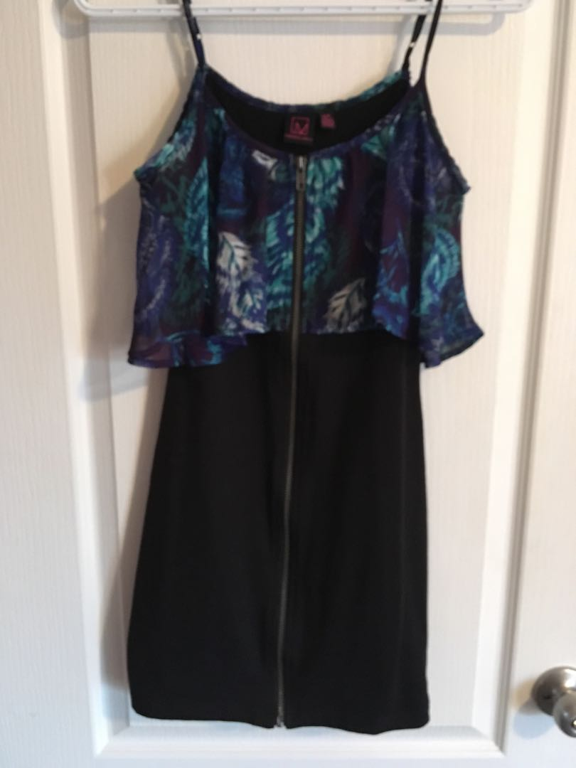 Dress with zipper front