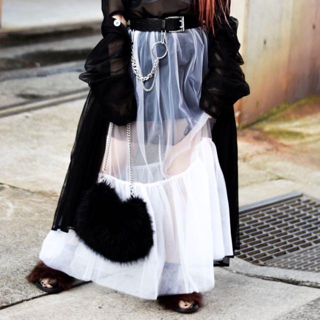 Eclect World white tule skirt