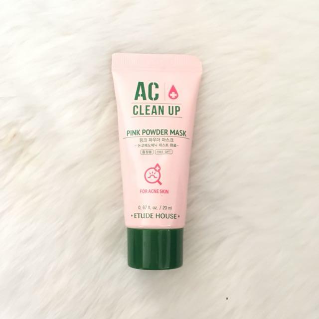 Etude house AC pink powder mask