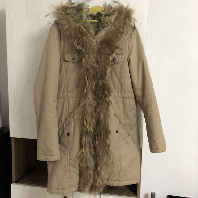 專櫃E-WEAR🔹駝色毛毛長版外套