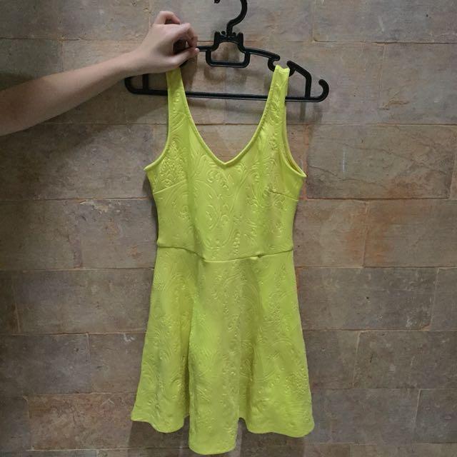 F21 neon dress