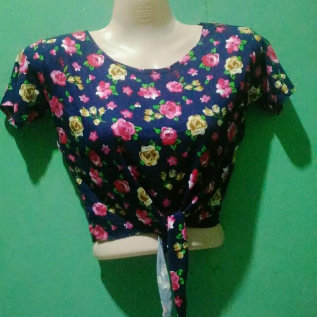 Floral Tie Crop Top