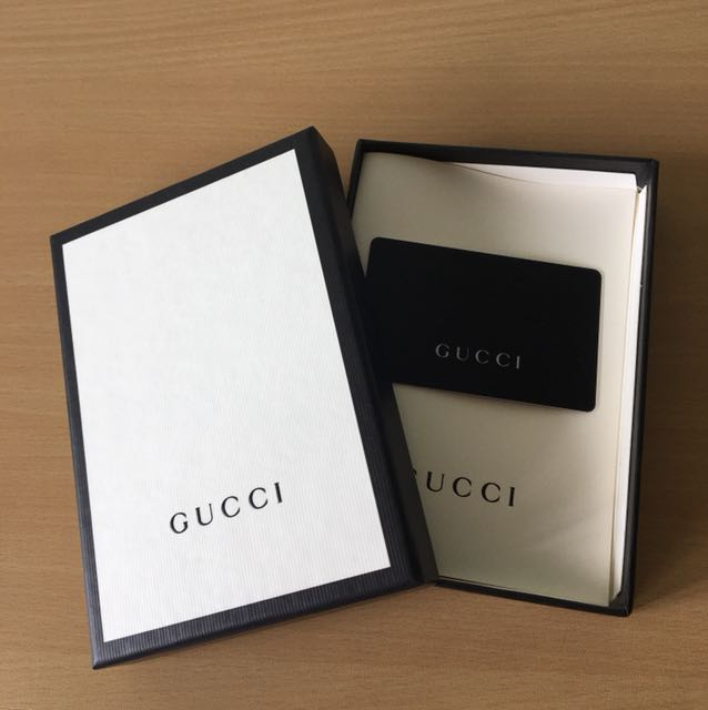 38858af699 Gucci gift card in a gift box, Entertainment, Gift Cards & Vouchers on  Carousell