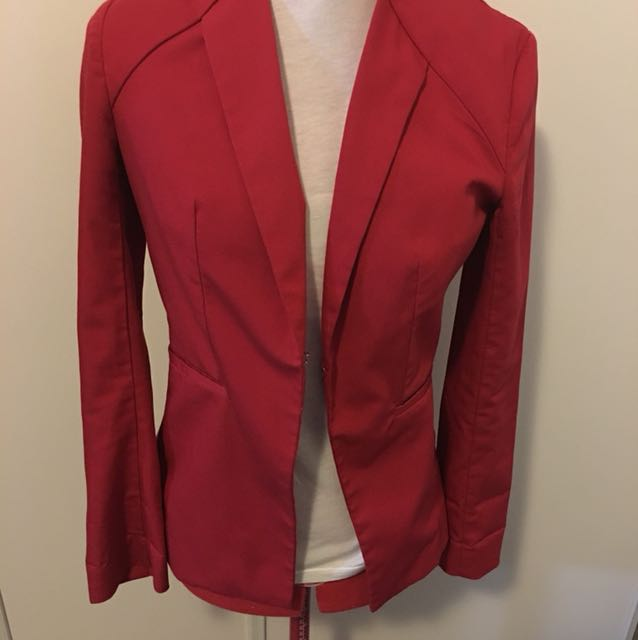 Guess blazer size small red