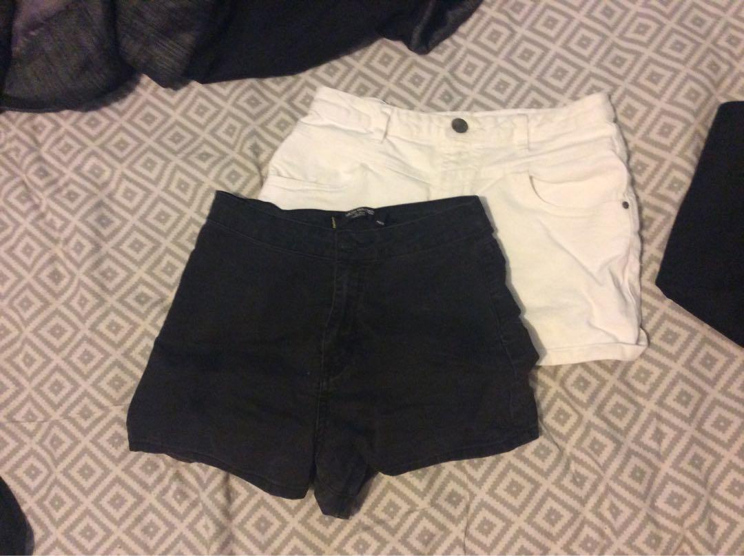 Highrise Denim Shorts