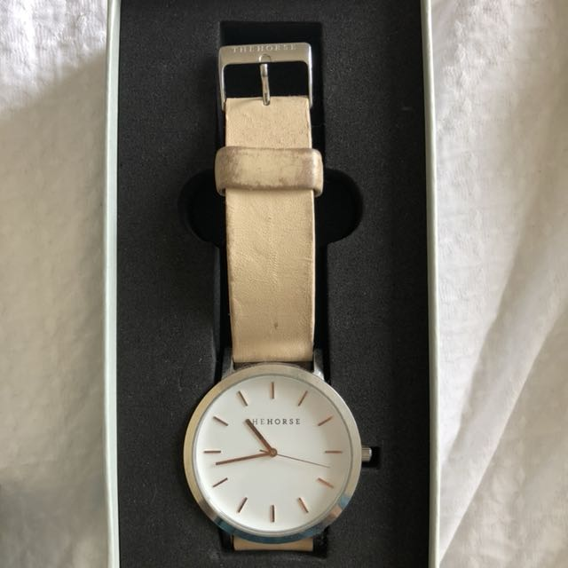 Horse peach/beige watch