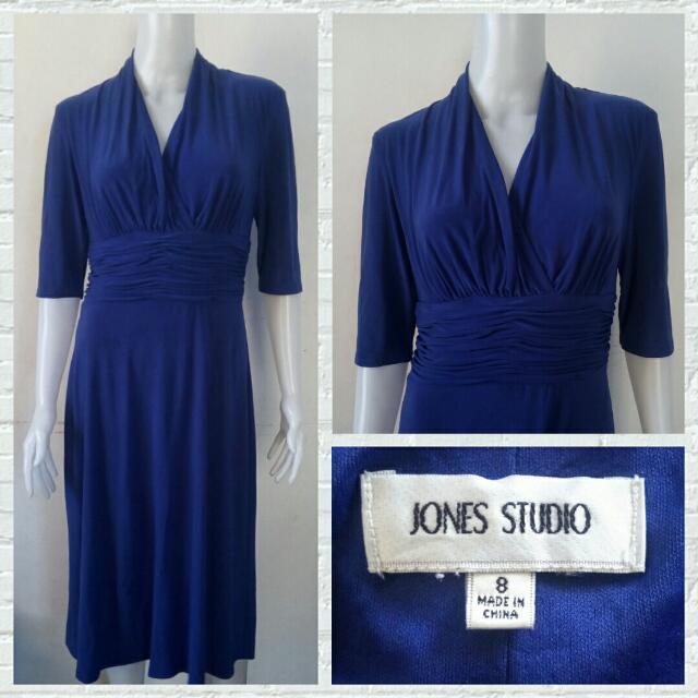 Jones Studio Semi Formal Royal Blue Dress