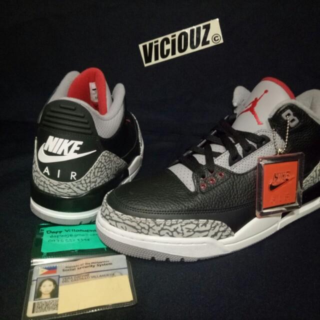 Jordan 3 og retro black cement size 11.5