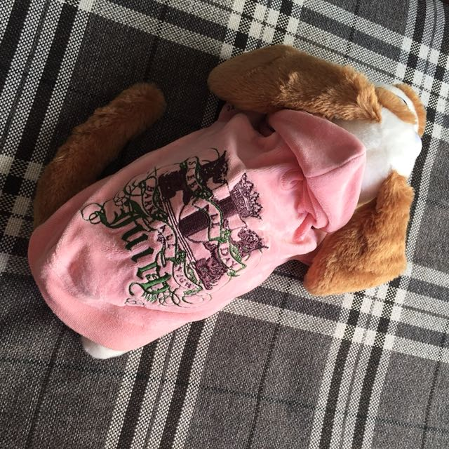 Juicy Couture 正品 狗狗帽T 近新 XS碼