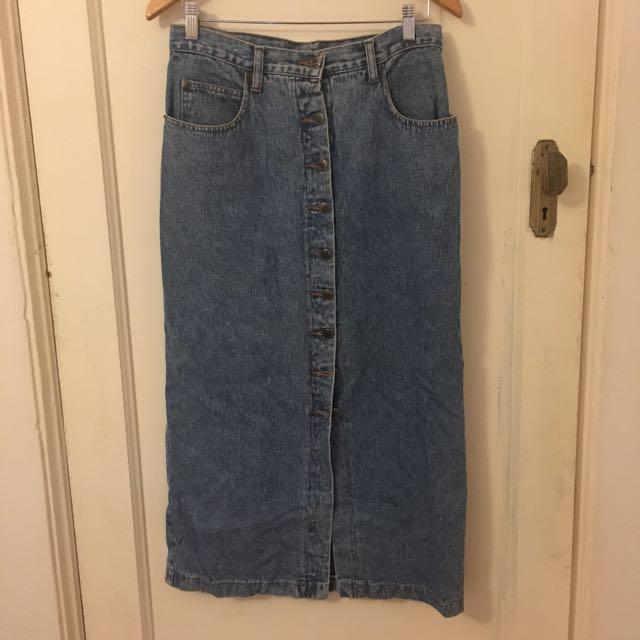 Just Jeans Vintage Denim Midi Skirt