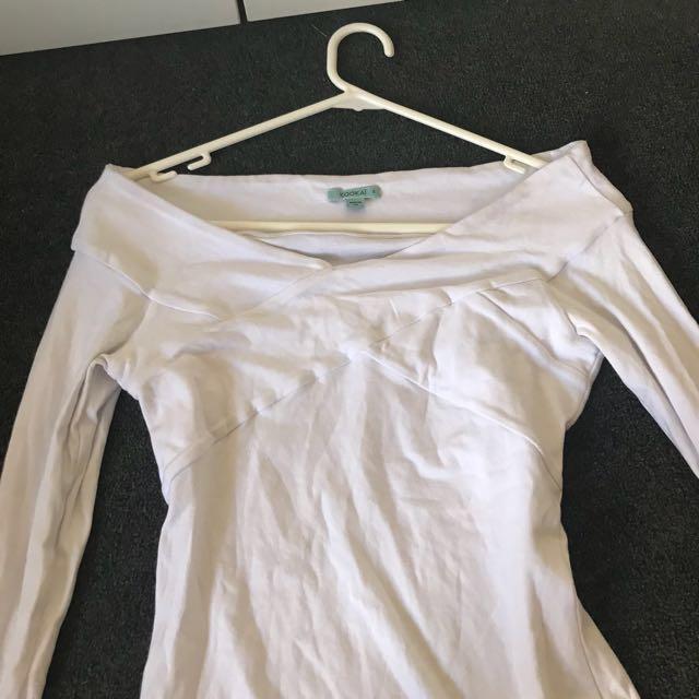 Kookai Long Sleeve White