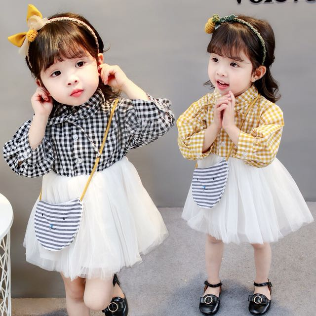 Korea Style Baby Girl Fashion Dress Babies Kids Girls Apparel