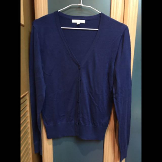 Lativ藍色針織外套