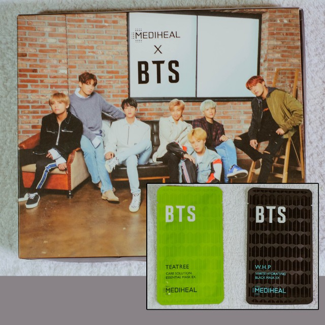 LIMITED EDITION BTS x mediheal face masks with 14 official photocards