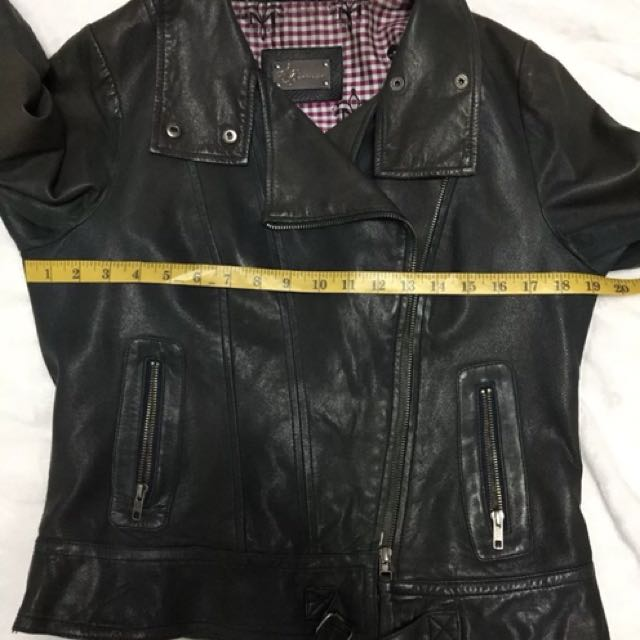 Mackage leather motorcycle jacket M