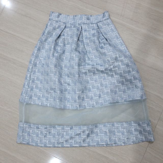 MDS Jacquard baby blue skirts