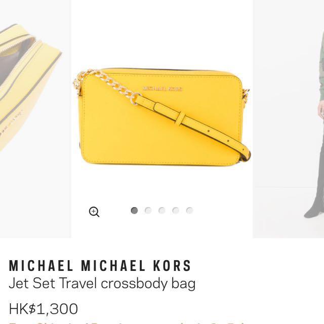 79008e6e804b Michael Kors Jet Set Travel crossbody bag, Women's Fashion, Women's ...