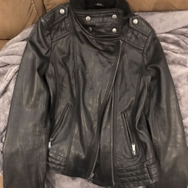 Micheal Kors leather motorcycle jacket small