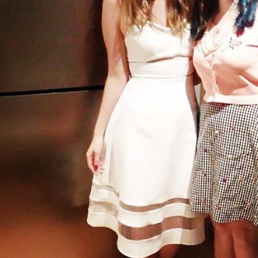 MISS SELFRIDGE White Midi Skirt - Worn Once!!