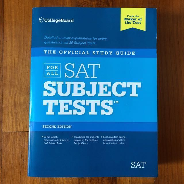 [NEW] SAT Subject Tests Official Study Guide