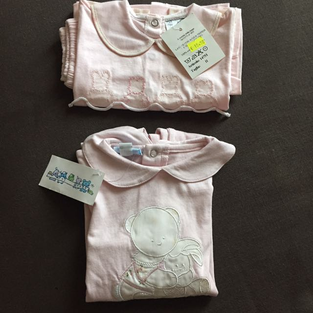 [NEW-import] Set of three pieces for baby girl from Italy