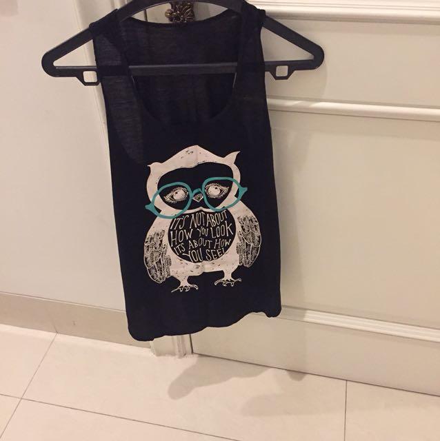 NEW-Tanktop Owl