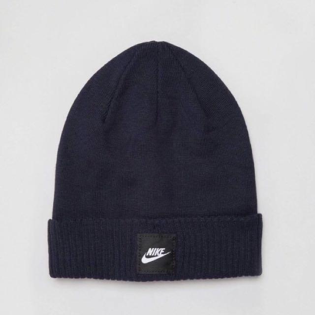 Nike 深藍色 毛帽